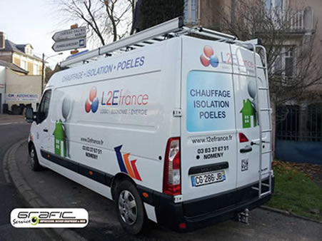 Camion L2E France - Nomeny (54610) - Décoration Grafic Service